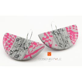 Boucles d'oreilles Pink Touch