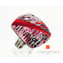 Bague Red Strips